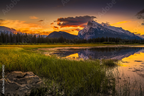Vermilion Lakes Sunrise near Banff, Canada