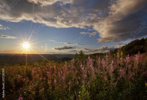 Fotografia Sunset view in Western Massachusetts