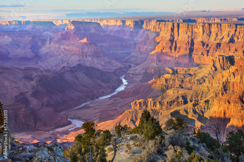 Canvas Print Majestic Vista of the Grand Canyon at Dusk