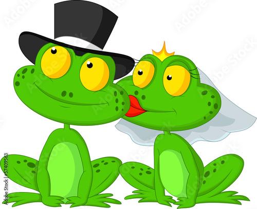 Fotografia Married frog kissing