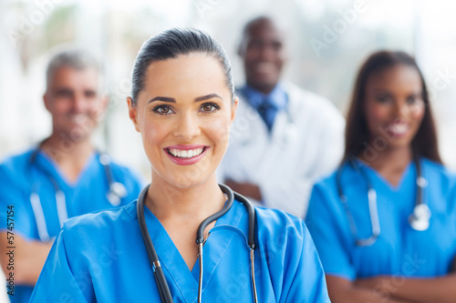 Obraz na plátně medical nurse and colleagues