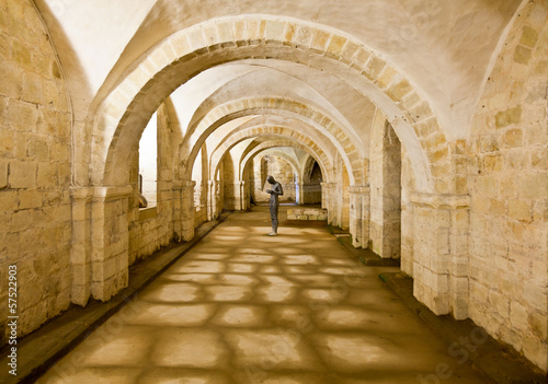 Fototapeta Winchester Cathedral crypt