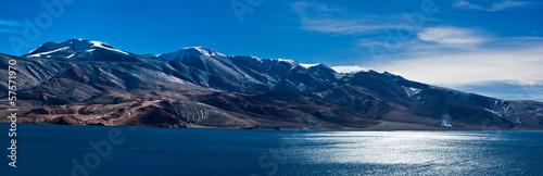 Morning panorama at Tso Moriri Lake. India