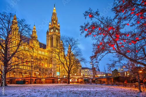 Canvas Print Vienna town hall