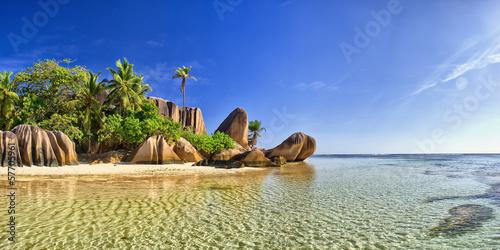 Stampa su Tela Beautiful beach in Seychell island