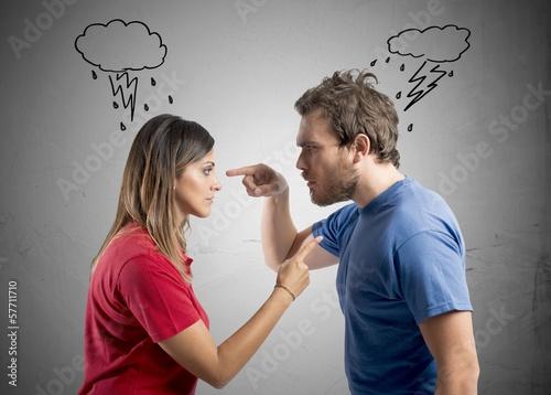Photographie Discussion entre mari et femme