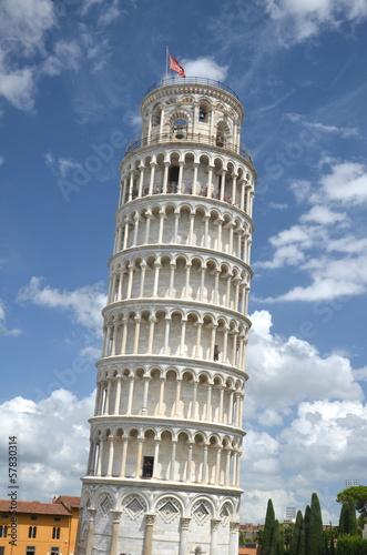 Photo Słynna Krzywa Wieża w Pizie na Placu Cudów, Toskania we Włoszech
