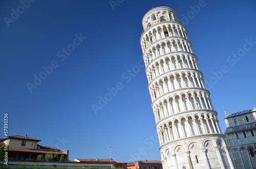 Obraz na płótnie Słynna Krzywa Wieża w Pizie na Placu Cudów, Toskania we Włoszech