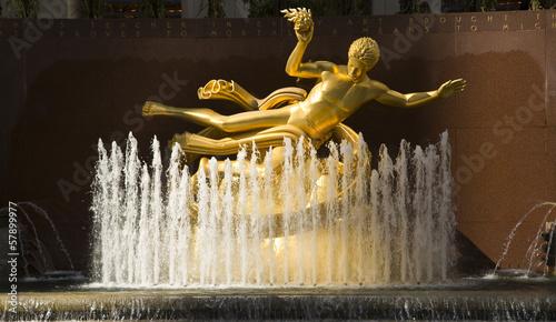 Photo Prometheus Statue at Rockefeller Center