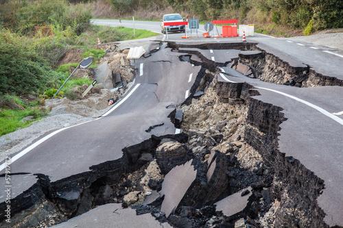 Catastrofe stradale Fototapeta