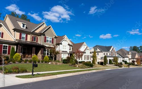 Street of large suburban homes Fototapeta