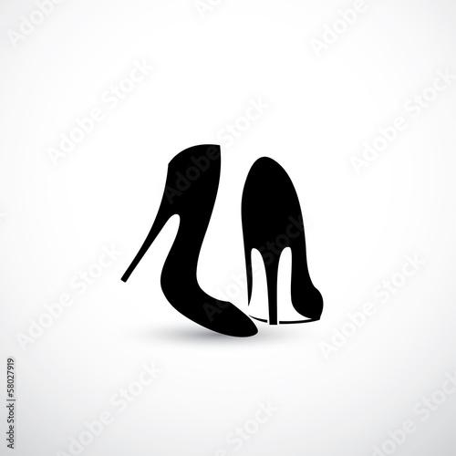 Women shoes with high heels Fototapeta