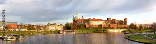 Panorama of Wawel castle in Krakow, Poland #58042998