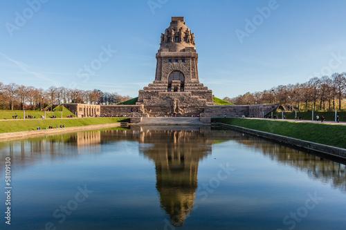 Tableau sur Toile Völkerschlachtdenkmal zu Leipzig im Herbst
