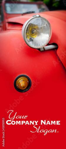 Canvastavla Vintage car detail