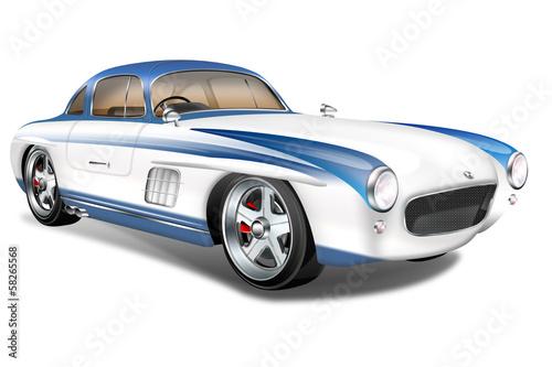 Fototapeta premium Niemiecki samochód sportowy, samochód zabytkowy