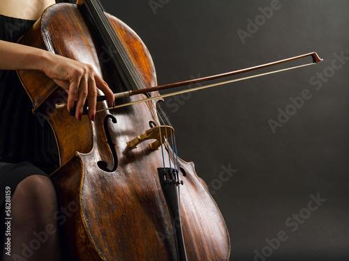 Playing the cello Fototapeta