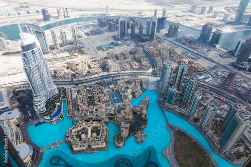 Obraz na płótnie View from Burj Khalifa Dubai