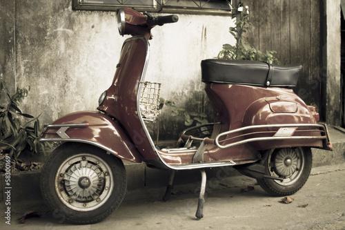 Wallpaper Mural moped