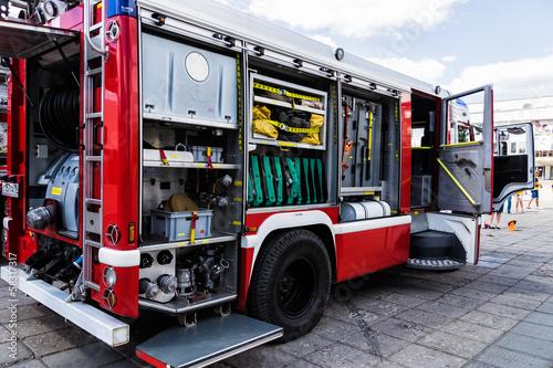 Valokuvatapetti fire truck
