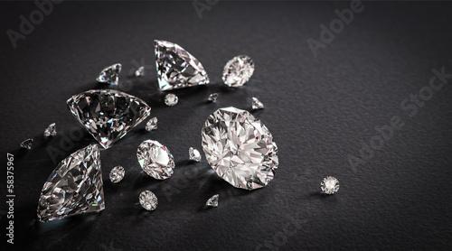 Shiny diamonds on black background #58375967
