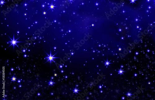 Christmas sky and shining star.