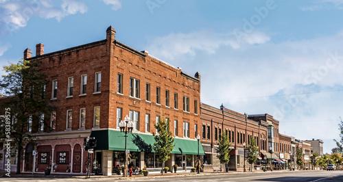Obraz na płótnie Small Town Main Street