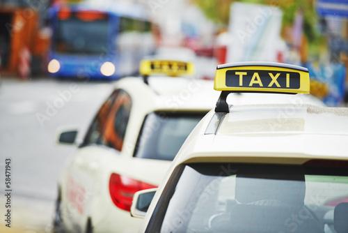 Wallpaper Mural yellow taxi cab cars