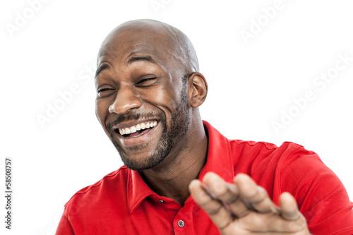 Fototapeta Black man laughing portrait
