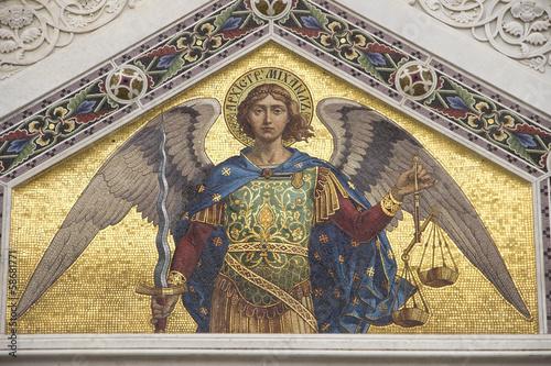 Wallpaper Mural Mosaic of Saint Michael