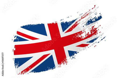 brytyjska flaga Fototapeta