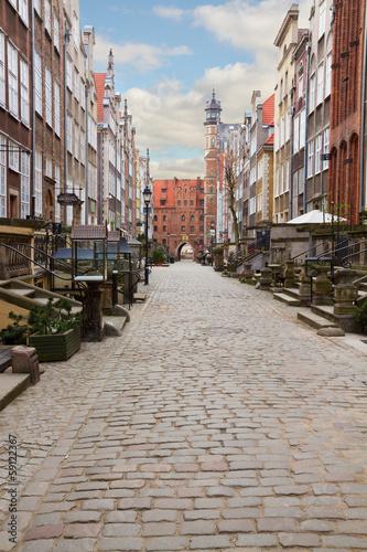 Mary's street, Gdansk, Poland
