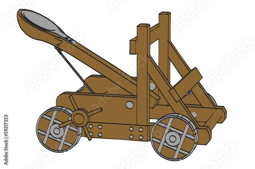Fototapeta cartoon image of catapult weapon