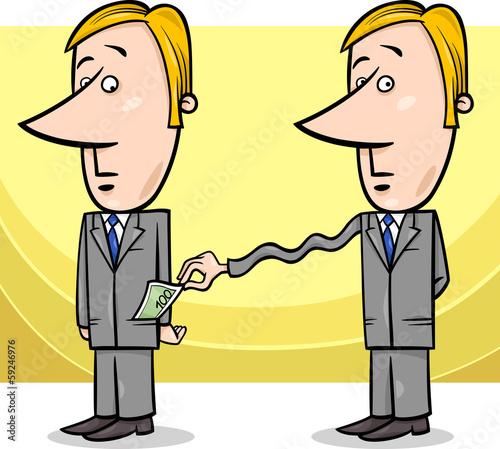 Obraz na płótnie businessman and taxes cartoon