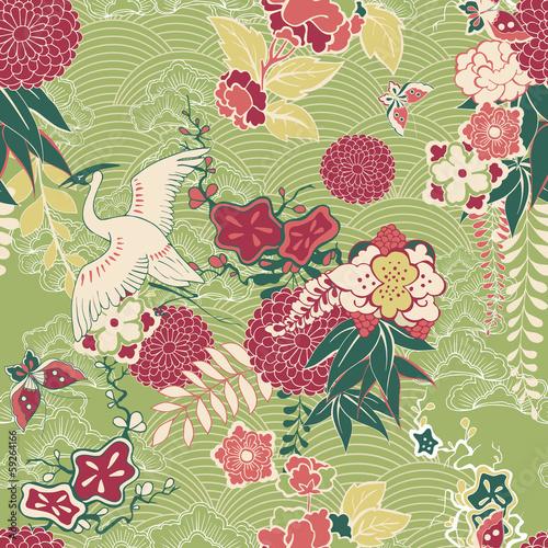 Oriental silk pattern Fototapeta