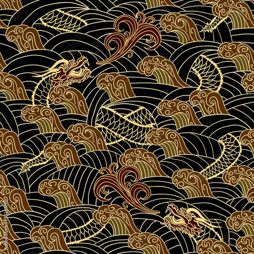 Oriental traditional seamless pattern Fototapeta