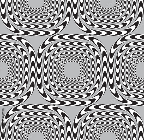 Optical Illusion, Vector Seamless Pattern Background, Squares Mo #59468760