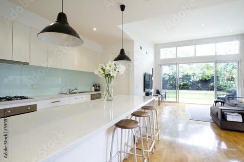 Stampa su Tela Contemporary kitchen living room