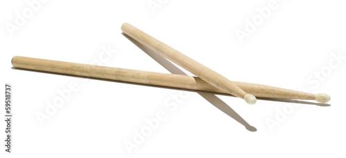 Fotografia, Obraz Wood Drumsticks - Isolated White