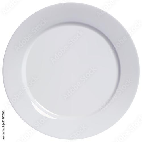 Fotografie, Obraz Plate empty, isolated. Vector illustration