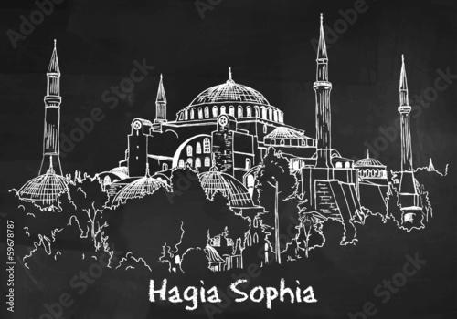 Photo Hagia Sophia Drawing