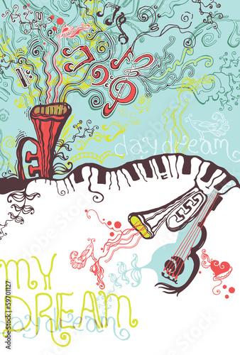 My dream. Musical illustrations.