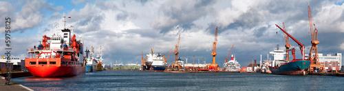 Stampa su Tela Hafenalltag in Bremerhaven