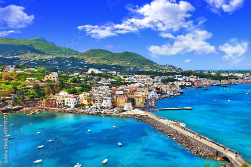 Wallpaper Mural beautiful Ischia isalnd - view from castel. Italy