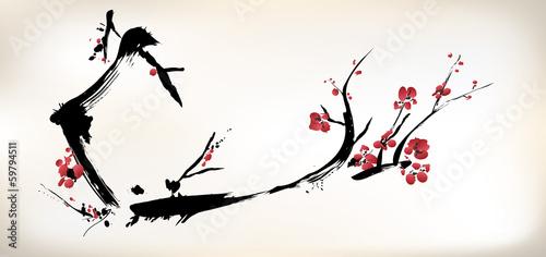 Canvas-taulu blossom painting