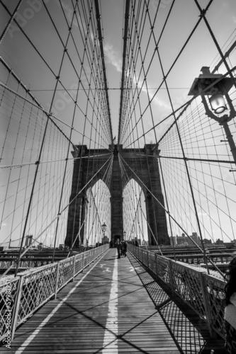 Fototapeta premium Most Brookliński czarno-biały