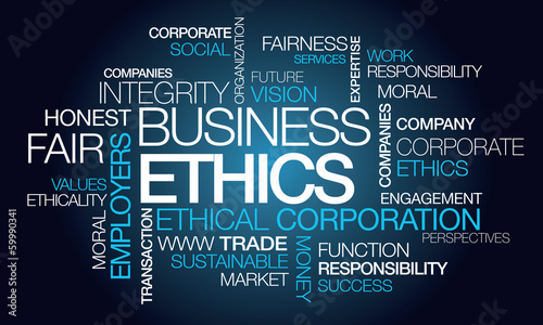 Business ethics corporate ethical word tag cloud #59990341