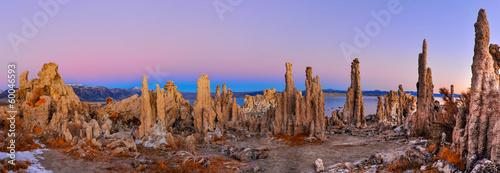 Obraz na płótnie Mono Lake tufa formations at sunrise