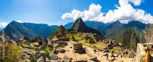 Panorama of Mysterious city - Machu Picchu, Peru,South America