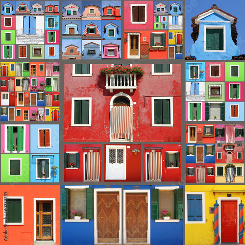 Fotografia abstract house collage
